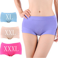 Hot Selling Ladies Plus Size Bamboo Panties Seamless Underwear Women Comfortable Boyshort XL XXL XXXL