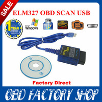 Factory Price!! 2014 New 100% Vgate USB ELM327 OBD2 / OBDII ELM 327 V2.1 Auto Diagnostic Scanner