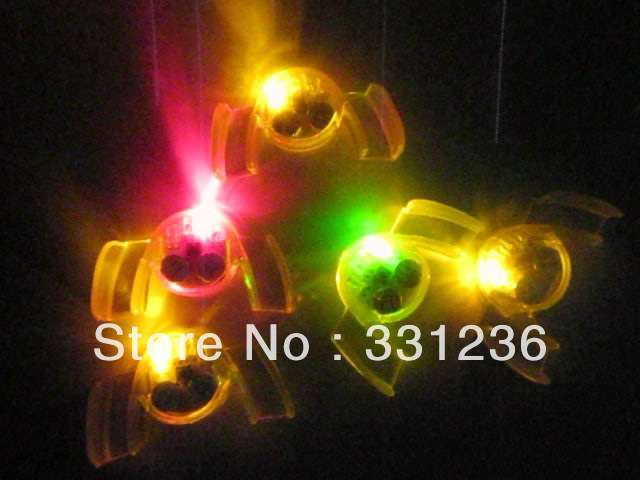 free shipping 24pcs/ lot 6.5*3.*1.5cm LED Mouth Guard flashing mouth piece mouth light for Christmas(China (Mainland))