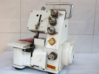 White line electric household overlock sewing machine zigzag sewing machine overedge machine