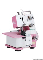 With light pink line zigzag sewing machine bag sewing machine overedge machine