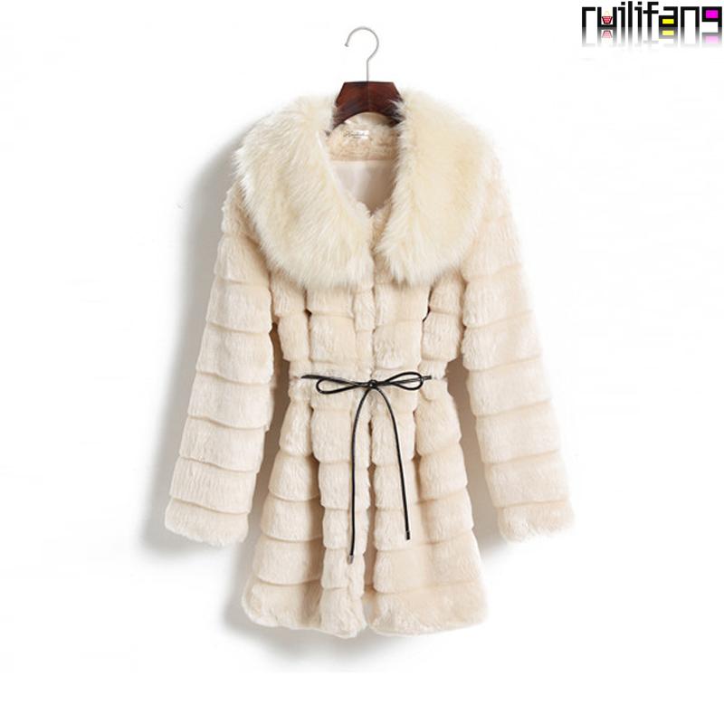 2014 women's fur overcoat mink hair medium-long faux fur coat(China (Mainland))
