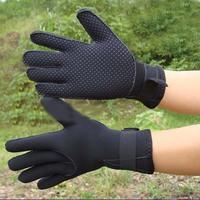 Free Shipping 3MM-slip diving winter swimming Warm snorkeling SCR gloves Black