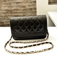 hot wholesale fashion women's handbag elegant shoulder bag small plaid chain messenger bag  free drop shipping