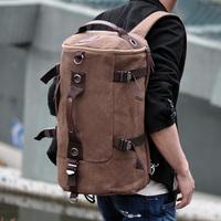 Man portable  travel bag one shoulder canvas backpack men school laptop bags sports backpack
