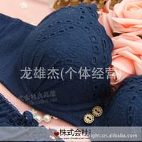 346B Fashionable ladies gather bra underwear set wholesale Guangzhou