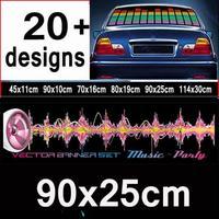 EL sound activated Music rhythm light car music equalizer for decoration light music  #q