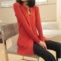 Free shipping 2014 new fall wild temperament OL Slim cardigan sweater coat sweater and long sections bottoming