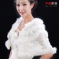 Colour bride cape moben lace white autumn and winter fur shawl cloak of marriage accessories