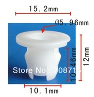 100PCS Free Shipping Headliner Nylon Nut For Mitsubishi Mr 444858 MB817060 MR330556 Montero 1997-On Auto Plastic Fastener Clips