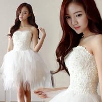 Bride and bridesmaids short dress skirt design wedding dress evening dress fashion evening dress bridesmaid dress 12501