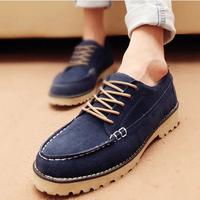Man high quality leather skateboarding shoes platform shoes men elevator shoes brockden the loggerhead shoes