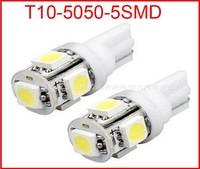 T10 5 LEDS T10 194 W5W 5050 Wedge Light Bulb Lamp 5SMD White #q  LED LIGHT 5LED Car Auto