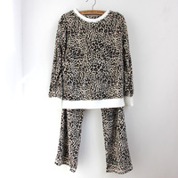 Quality female sleepwear shaggier thickening mink velvet long-sleeve casual lounge set sleepwear