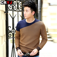 cardigan 2014 spring male sweater slim o-neck sweater male sweater wool male