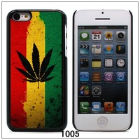 Leaf Rasta Skin Cover Case For Apple iPhone 5C, Not for 5S (IP5C-1005) FREE SHIPPING