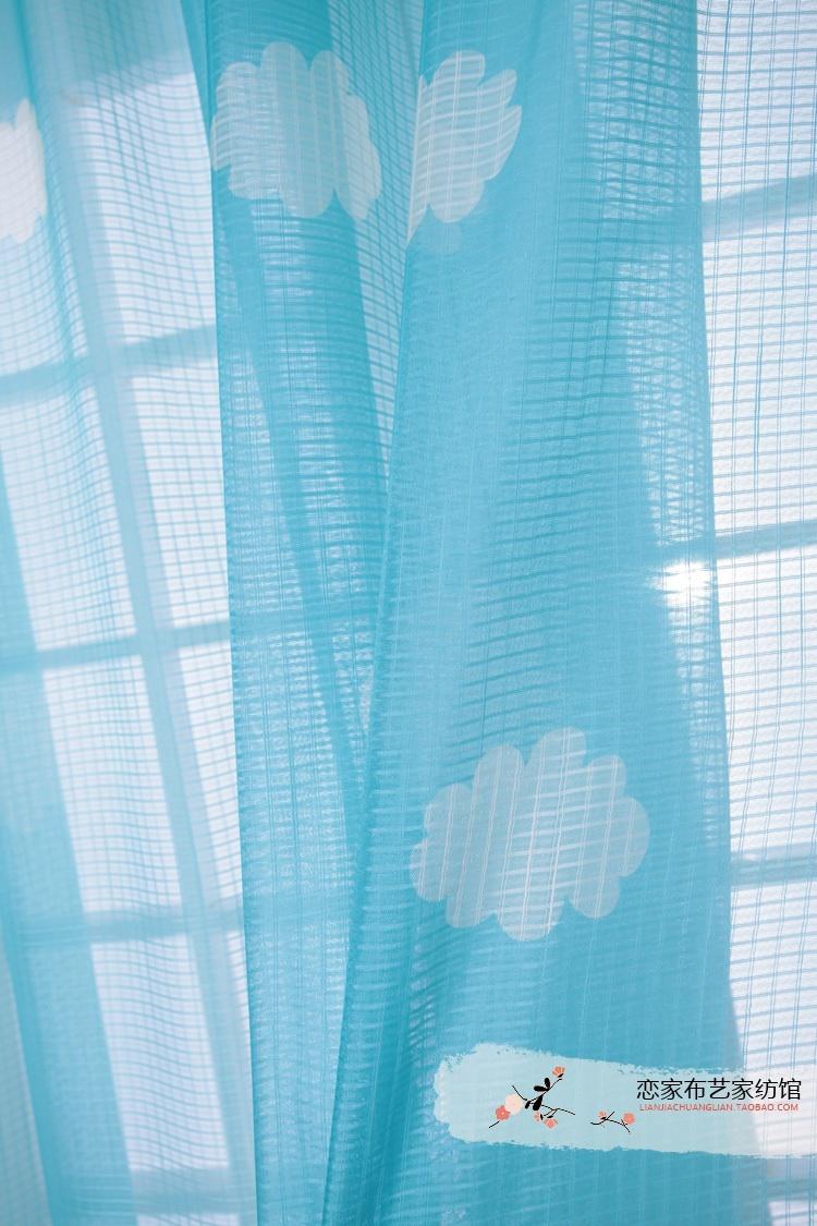 Blue kids curtains promotion achetez des blue kids - Rideau chambre garcon bleu ...