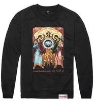 New Free Shipping  Men's Fashion Long Sleeve 5 colors DIAMOND Printed Hip Hop Rap HOODIE CREWNECK Sweater Sweatshirt