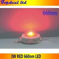100pcs 3W 660nm LED Deep Red High Power LED for Plant Light Grow Light DIY free shipping