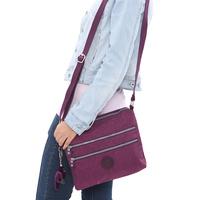 2013 small messenger bag double bag women's messenger bag zipper women's handbag nylon bag