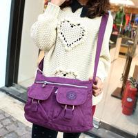 Spring and summer casual messenger bag nylon cloth fashion women's handbag vintage work bag multicolor