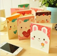 B213 korea stationery animal notepad notebook stitch book exercise book a6