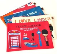 C157 stationery paper bags a4 of overflight oxford fabric belt zipper cartoon