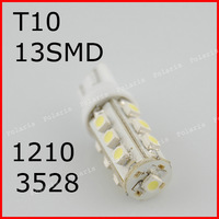 10X T10 led 1210 13 SMD 13 LED 13smd 13led Car Side Wedge Light Lamp W5W 12V White T10 W5W 147 152 158 159 161 168 184 192 193