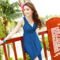 30pcs 2014 swimwear sexy steel one-piece dress swimwear