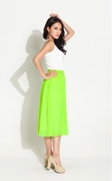 2013 chiffon skirt neon green (Free sipping)