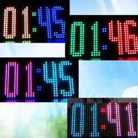 Free shipping SCM mcu kit electronic pov DIY digital 16 * 32 RGB screen temperature and humidity multifunction LED clock display