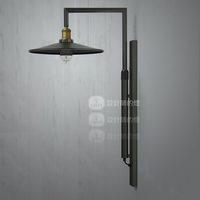 Loft rh american style vintage single head wall lamp