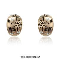 Women's jewelry.Free shipping.Fashion women's earrings.Rhinestone earrings.Generous 18 KGP rose gold earrings.You can mix  match