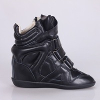 Isabel marant ysabel high-top shoes genuine leather elevator ash women's star shoes
