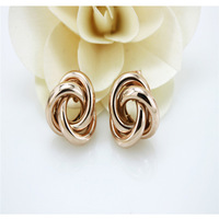 Women's jewelry.Free shipping.Wholesale/retail fashion women's stud earrings.Generous 18KGP rose gold earrings.You can mix match