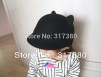 10pcs Designer Childrens Winter Derby Kid Wool Hats COOL Boys Autumn Bowler Hat Girl Felt Cap Toddlers Spring Bowler Infant Caps