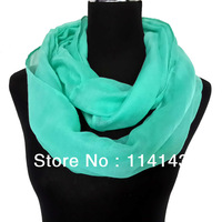 10pcs/lot Fashion Solid Plain Color Infinity Scarf Loop Circle Cowl Scarves Accessories Gift Soft Lightweight, Free Shipping