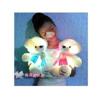 Recording luminous teddy bear doll, baby bear lovers dolls plush toys birthday gift Valentine's Day 2pcs
