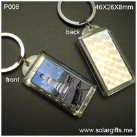 Solar power flashing LCD keychain customized  logo keyring China Promotional solar gifts manufacturer