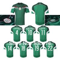 CHICHARITO G. DOS SANTOS AQUINO Mexico Home Jersey Free Shipping Thai quality Mexico 2014 Home Soccer Jersey Fans version