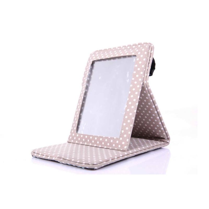 Nanoopto swan lake folding desktop makeup mirror folding makeup mirror portable vanity mirror(China (Mainland))