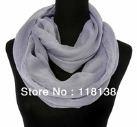 Fashion Soft Lightweight Infinity Loop Cowl Circle Scarf Plain Solid Color, Free Shipping