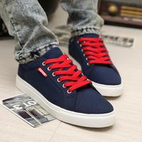 Men brief style solid color casual shoes man skateboarding shoes men's  plus size canvas skateboard shoes