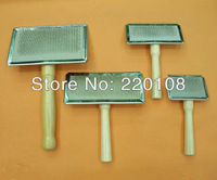 Pet brush dog comb hairbrush wooden handle  Stainless steel needle comb Air bag type