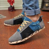 Men shoes men's fashion casual shoes man color block decoration plate shoes sneakers