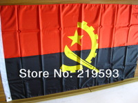 grommet 150 x 90 cm Angola flag free shipping by airmail