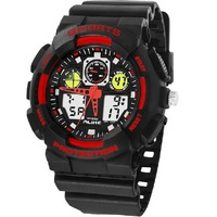 Alike Mens Sports Watches Men Quartz Rubber Strap 2014 New Design Military Watches Digital Analog Dual Time Jelly Relogio AK1055