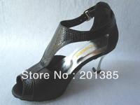 New Women Black Satin Sliver Metal Heel Latin Ballroom Shoes Salsa Dance Shoes Tango ChaCha Shoes Size 4.5,5,5.5,6,6.5,7,7,.5,8,