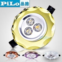 Multi color led crystal ceiling light spotlights corridor lights entrance lights embedded