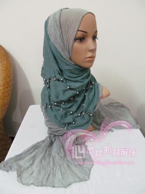 Tc188 autumn and winter bali yarn knitted cotton muslim bandanas women's scarf silk scarf(China (Mainland))